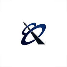 Q Letter Logo Space Spear Design
