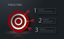 Target With Tree Arrows Infogr...