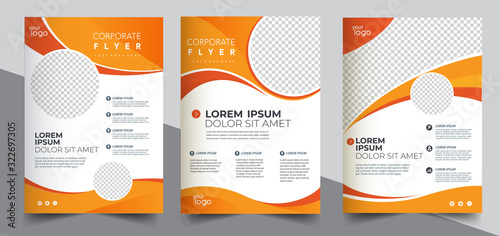 Fototapeta Brochure design, cover modern layout, annual report, poster, flyer in A4	 obraz