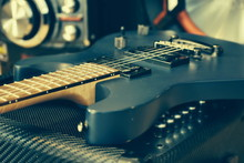 Music Background. Tool Vintage Photos. Electric Guitar. Melody. To Sing A Song. To Play The Guitar. Live Music. Guitar Motif. String Musical Instrument. Blurred Focus. Fuzzy Photo