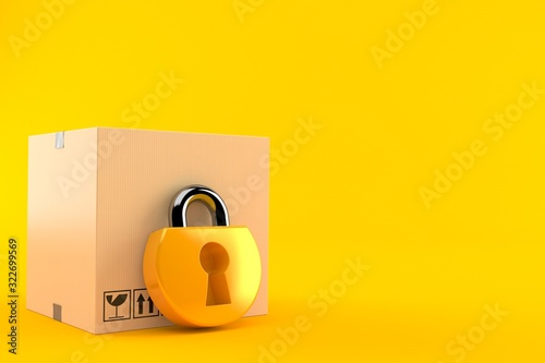 Fototapeta Package with padlock obraz