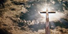 Christian Cross On The Backgro...