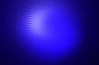 Shining warp objects in the dark. Blue dotted symmetrical pattern