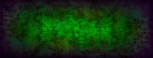 Green Grunge Background With V...
