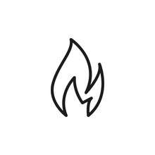 Simple Fire Line Icon.