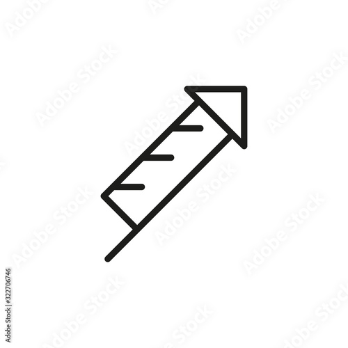 Fotografie, Obraz Simple petard line icon.