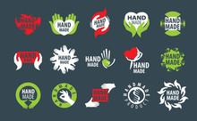 Vector Icons Handmade On A Dar...