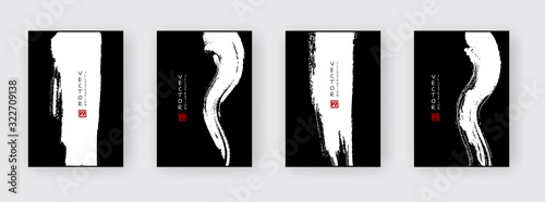 Fototapeta Banners with abstract ink brush. eps10 vector illustration obraz