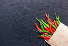 Fresh Spicy Red And Green Pepp...
