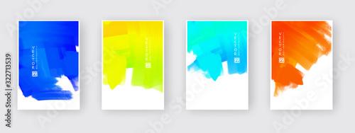 Obraz Vector design elements template for business brochure. - fototapety do salonu