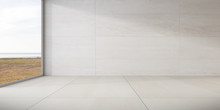 Mock-up Of Marble Empty Room A...