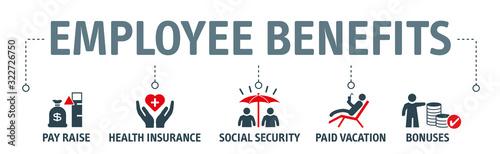 Fototapeta Employee Benefits Icon Concept on white background obraz