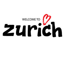 Zurich Welcome Lettering Text ...