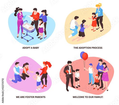 Photo Adoption Isometric Concept