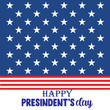 Happy Presidents Day with stars