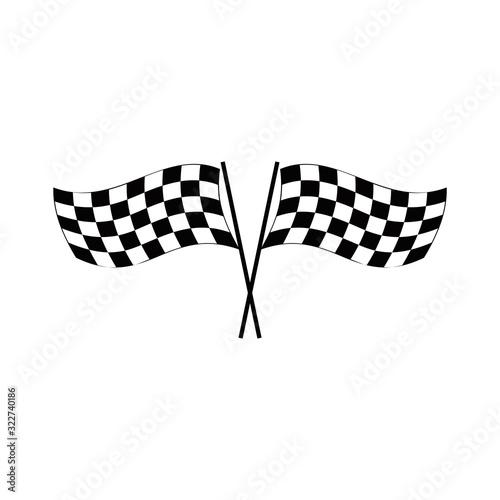 race flag logo vector Tapéta, Fotótapéta