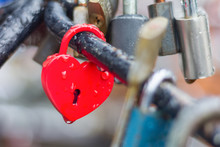 Heart-shaped Love Padlock With...