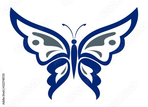 Fototapeta butterfly logo design