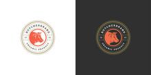 Butcher Shop Logo Vector Illus...