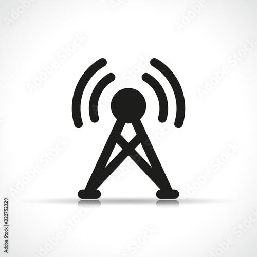 Photo Vector antenna icon symbol design