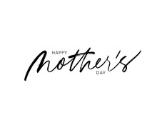 Happy Mother's Day Vector Lett...