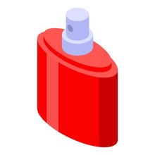 French Perfume Icon. Isometric...