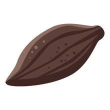 Whole Cocoa Fruit Icon. Isomet...