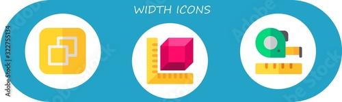 width icon set Billede på lærred