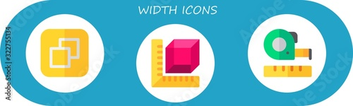 width icon set Canvas-taulu