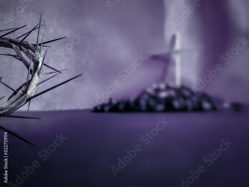 Lent Season,Holy Week and Good Friday concepts - the half image of crown of thor Fototapeta