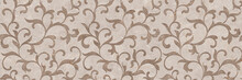 Ornament Pattern With Beige Ma...
