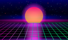 Retro Sci-fi Background Of The...