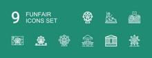 Editable 9 Funfair Icons For W...