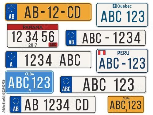 Photo Car license plate