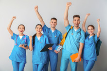 Group Of Happy Medical Student...