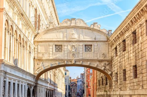 Venice, Italy. Bridge of Sighs (Ponte dei Sospiri) canal rio del Palazzo