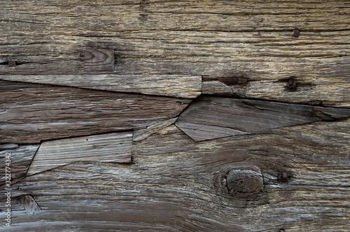 Fototapeta ツギハギな木壁C obraz na płótnie