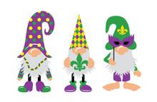 Mardi Gras Gnomes With Mask, F...