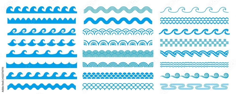 Fototapeta 様々な形状の波セット