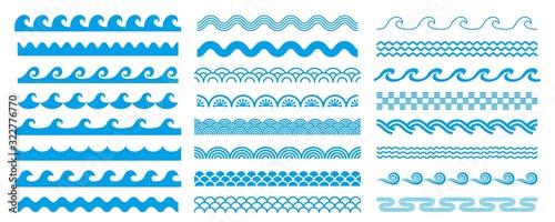 様々な形状の波セット Fototapeta