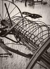 Vertical Shot Of A Vintage Hay...