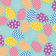 Colorful Easter Egg Pattern- V...