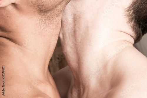 Fotografie, Obraz Love story. Attractive gay couple.