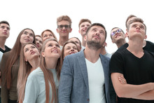 Close Up. Group Of Young Peopl...