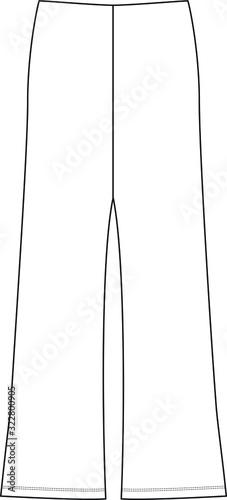 Legging, tights, spandex, elasticate pants Fototapet