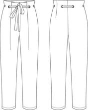 Pants, Apparel Template, Belted Pants, Vector