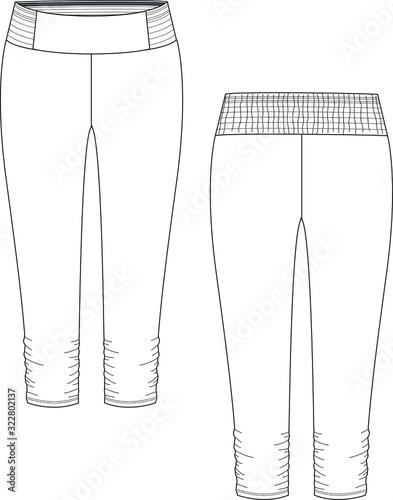 Legging, tights, spandex, elasticate pants Tablou Canvas
