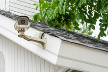 Outdoor CCTV Security Camera Installed At House Loof.