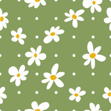 Vector Daisies Checker With Po...