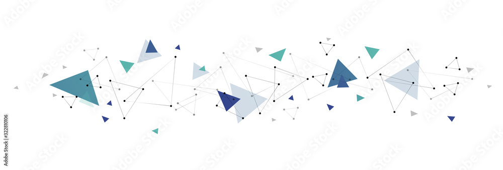 Fototapeta sfondo, collegamenti, triangoli
